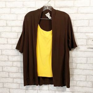 Chico's brown open cardigan size 2